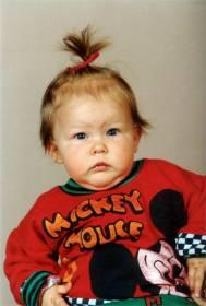 Raakel yksivuotiaana 1989