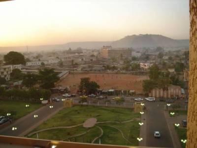 Bamakonäkymää hotellista