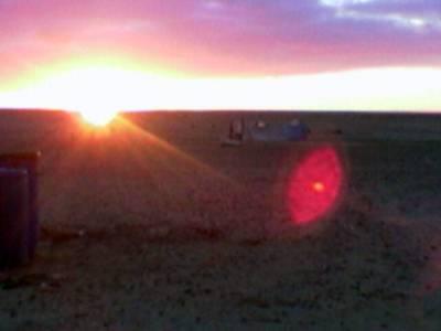 Oli iltarusko Länsi-Saharassa...