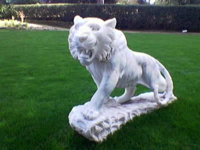 Hotellia vartoivat leijonat. Niistä tulee aina mieleeni Aslan, suosikkinimahdollisissa maailmoissa.