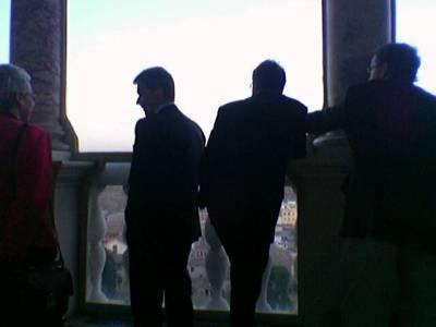 Villa Lanten terassilla oli huikeat näkymät