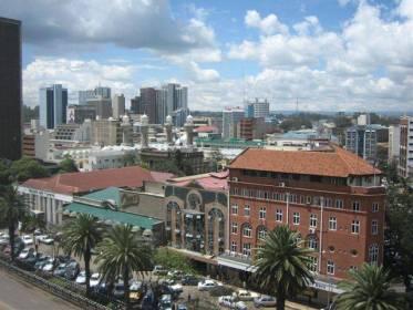 Kaupunkinäkymää Nairobista