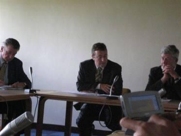 Tapasimme myös UNEP:in uuden pääjohtajan, Achim Steinerin. Kuvassa oikealla delegaatiomme johtaja, hollantilainen meppi Hans Blokland.